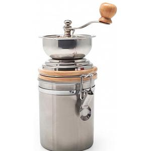 Danesco Stainless Steel Manual Coffee Grinder with Canister